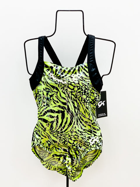 Green Zebra Leotard