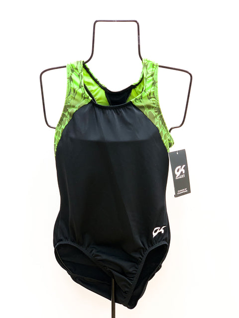 Green and Black Leotard