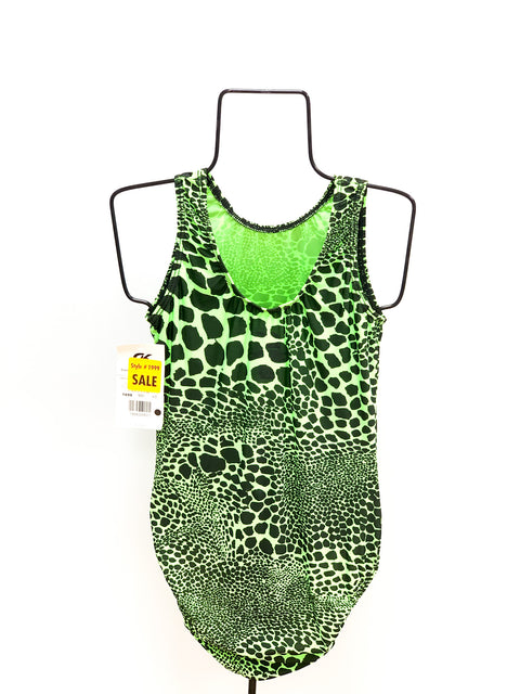 Green Animal Print Leotard