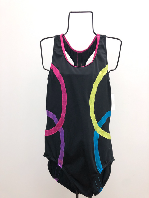 Black Neon Shape Leotard