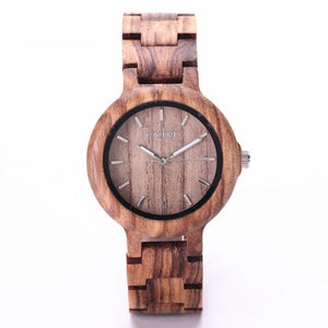 100% Natural Wooden Quartz Watches