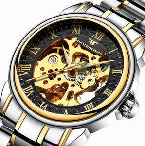 Automatic Mechanical Gold Fashion Skeleton Watch
