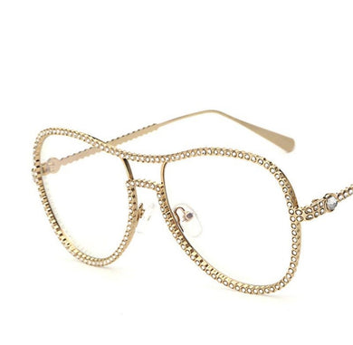 Luxury diamond metal Fashion Style Sunglasses UV400