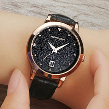Star Dial LeatherStrap Waterproof Quartz Watches