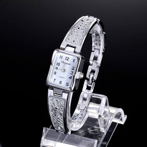 Women Luxury Vintage Gold Silver Quartz Watch