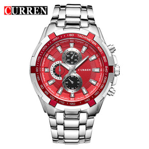 Luxury Curren Stainless Steel Men Quartz Casual Watch Men Wristwatch - shopoile