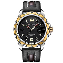 NEW Curren Casual Quartz Leather Strap Watch - shopoile