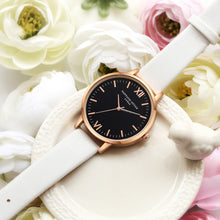 Rose Gold Leather Simple Quartz Watches - shopoile