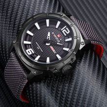 Military Casual Canvas Leather Sport Quartz watches - shopoile