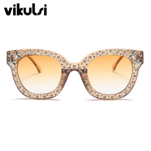 Super Stylish Celebrities Vintage Cat Eye Sunglasses UV400 - shopoile