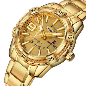 Hot Selling Luxury Men Gold Quartz Watches - shopoile