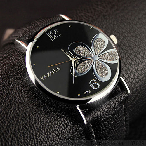 YAZOLE Flower Quartz Watch For Women - shopoile