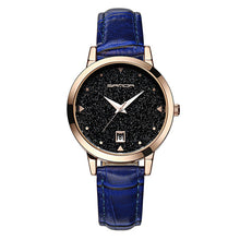 Simple Creative Star Dial LeatherStrap Waterproof Quartz Watches - shopoile