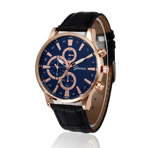 Casual PU Leather Quartz Wrist Watch