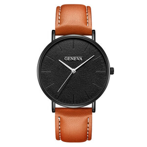 Ultra Thin Leather Quartz Watch