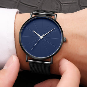 Business Stainless Steel Men Luxury Wristwatch
