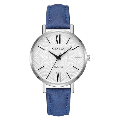 Woman Fashion Leather Quartz Wrist Watch