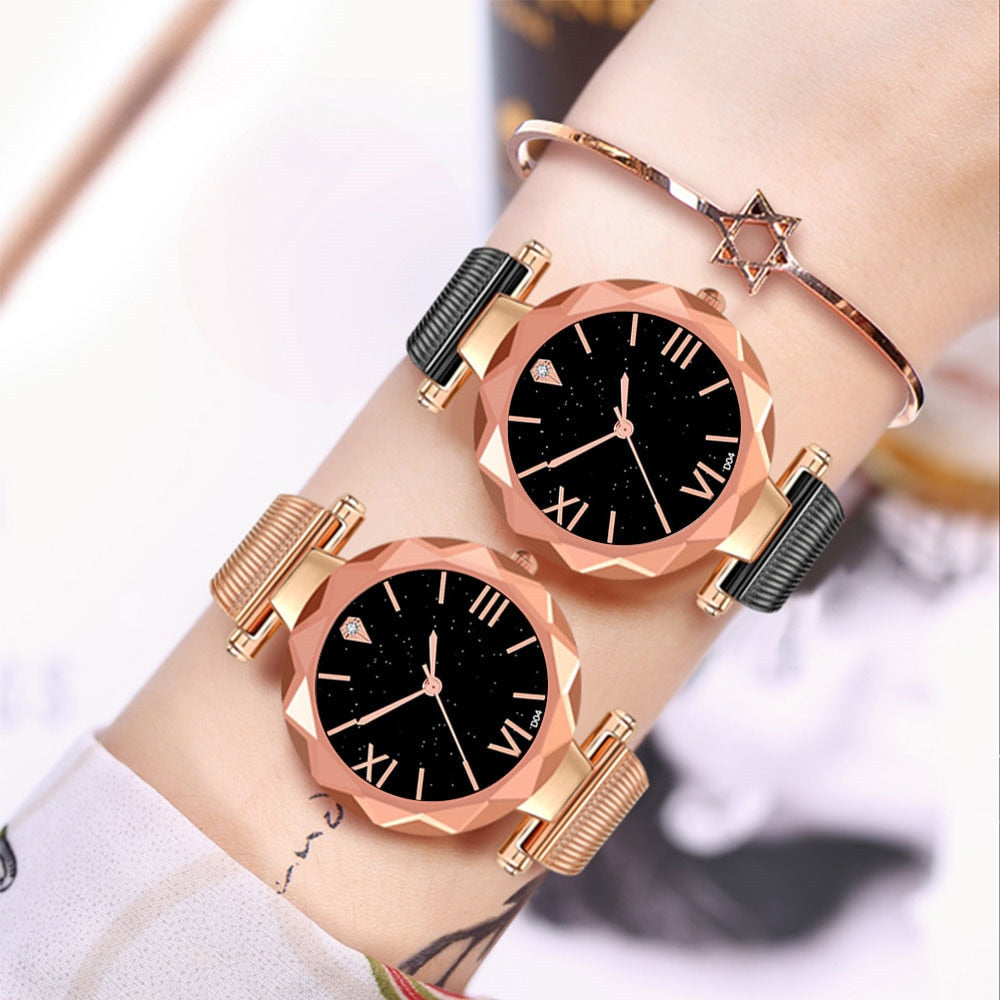 Woman Casual Stainless Steel Quartz Wrist Watch