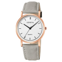 Geneva Faux Leather Quartz Wrist Watch