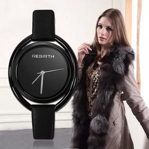 Women's Quartz Watch With Leather Band