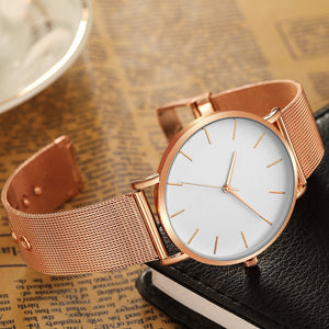 Stainless Steel Casual Quartz Wristwatch