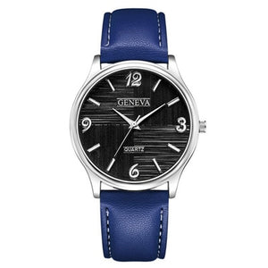 Men Casual Leather Quartz Watch