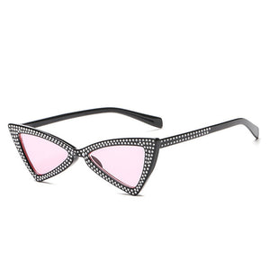 Trendy diamond sunglasses for women