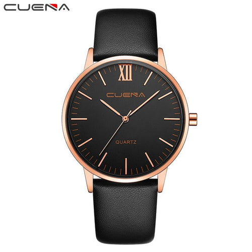 Simple Stylish Ultra Thin Leather Quartz Watch
