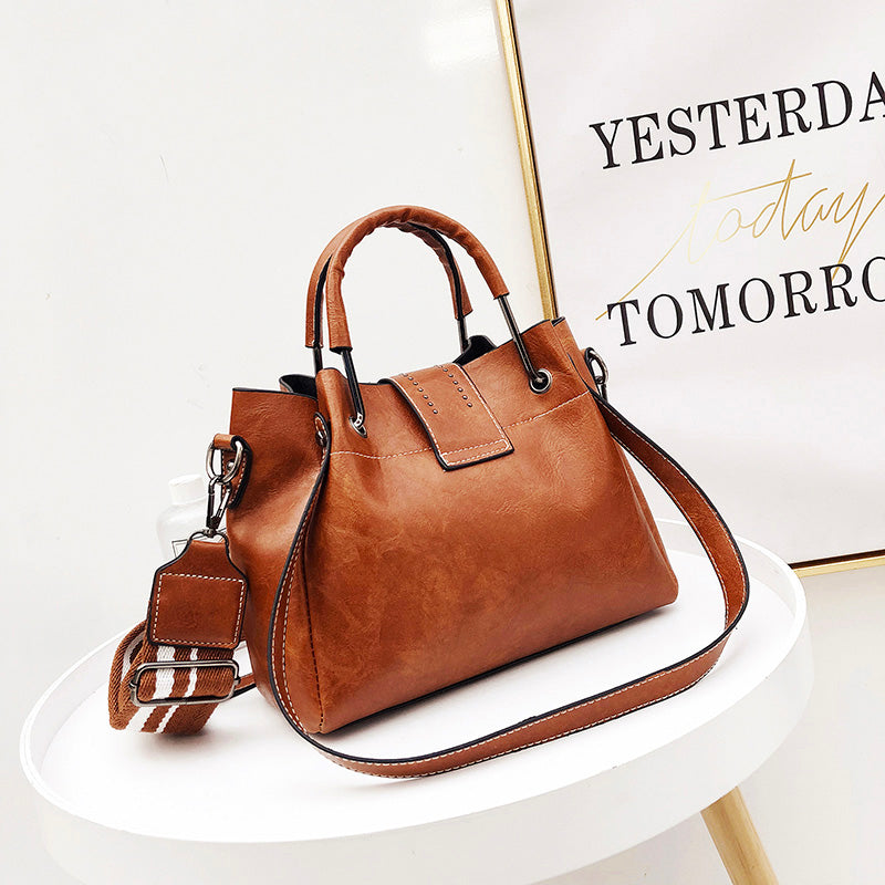 836580c44a8f ... Bags For Women 2018 New Fashion PU Leather Handbags Crossbody Bag For  Women Vintage Bucket Shoulder ...