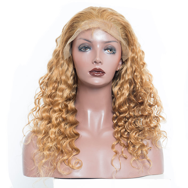 2ee3e2327 Blonde Wig Colorful 250% Density Loose Wave Lace Front Wigs With Baby Hair  #27 ...