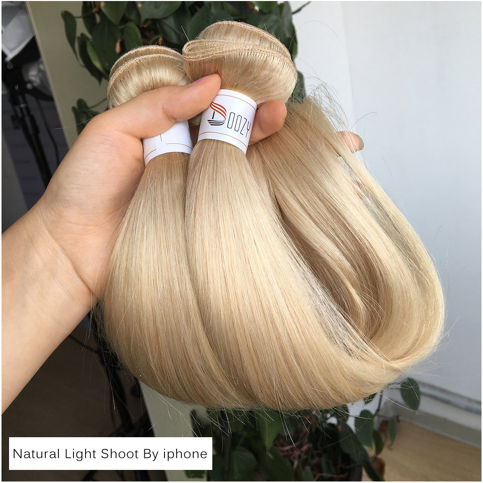 Doozy 613 Russian Blonde Remy Human Hair 1 Bundle Double Weft Hair