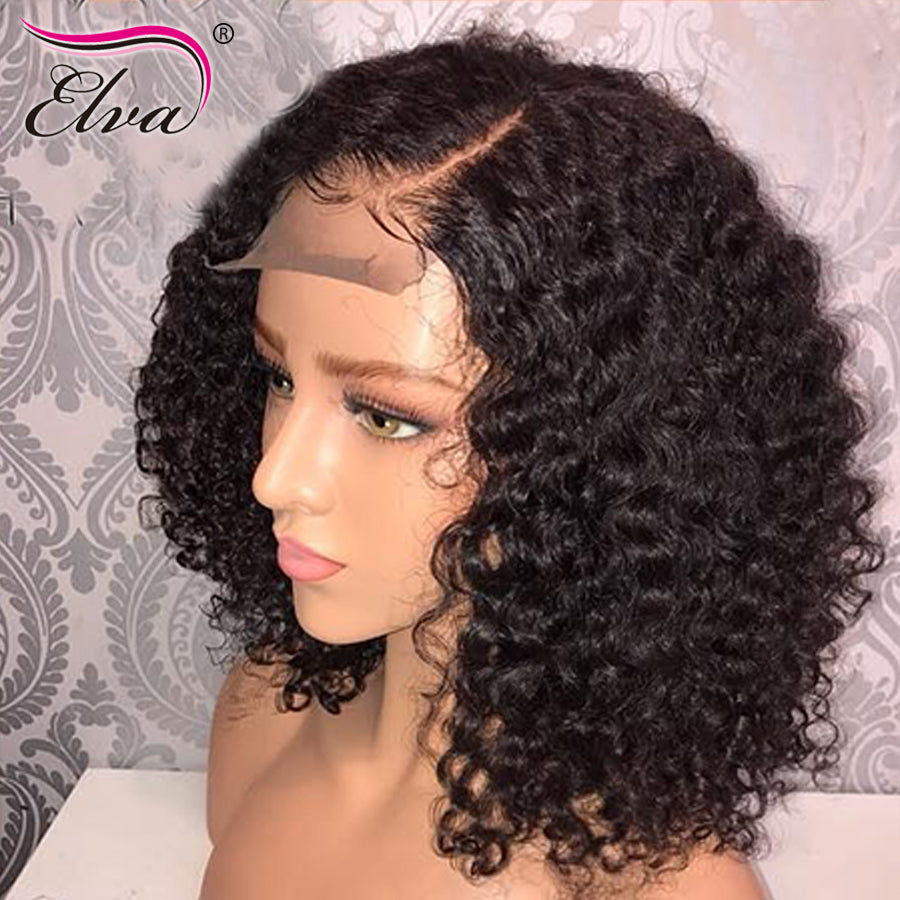 Elva Hair Short 13x6 Lace Front Human Hair Wigs Pre Plucked With ...