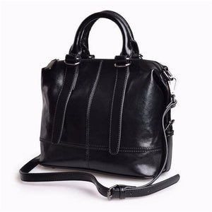 144cd1a804c6 FoxTail and Lily Genuine Leather Handbags Top Quality Oil Wax Cowhide  Vintage Tote Shoulder Bag Summer