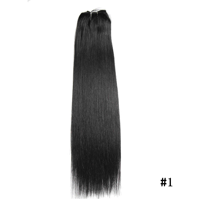 Good Hair Straight Clip In Human Hair Extensions Non Remy Brazilian