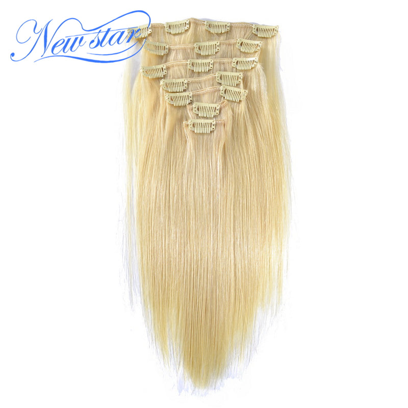 New Star Hair Clip In Brazilian Blonde 613 Straight Remy Hair 100