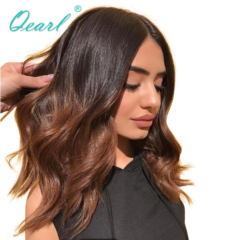 Ombre 1B 30 Brazilian Remy Human Hair Lace Front Wigs for Women With Baby  Hair ... f050167c3f