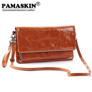 db66839bfa Large Capacity Oil Wax Leather Cowhide Retro Women Messenger Bags 2018