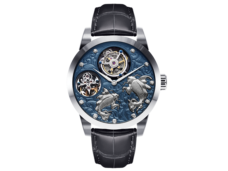 Memorigin Dual Tourbillon Series – Pisces and Pearls Tourbillon Watch 4894379661018
