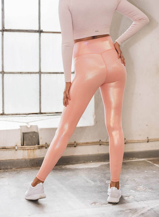 Peach Shine On Tights