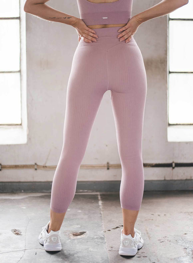 SUNSET HAZE RIBBED SEAMLESS TIGHTS 7/8
