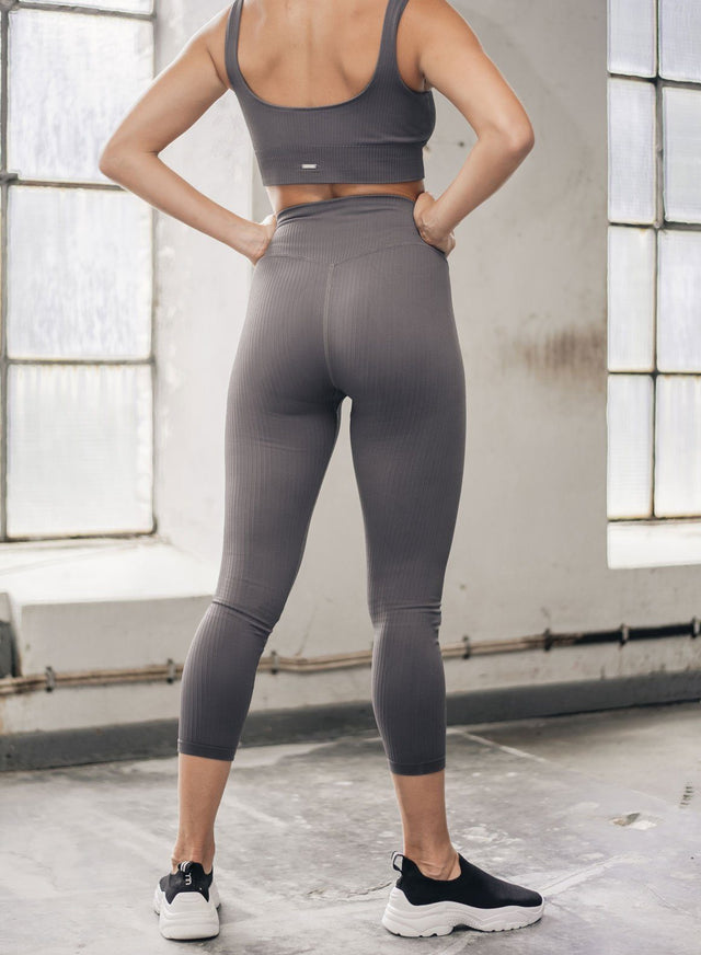 CONCRETE RIBBED SEAMLESS TIGHTS 7/8 aim'n sportswear