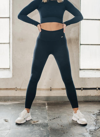 NAVY ELEVATE SEAMLESS TIGHTS aim'n sportswear