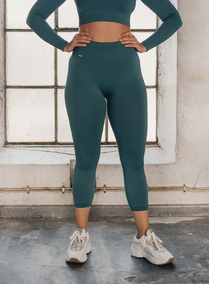 HYDRO RIBBED SEAMLESS TIGHTS 7/8 aim'n sportswear
