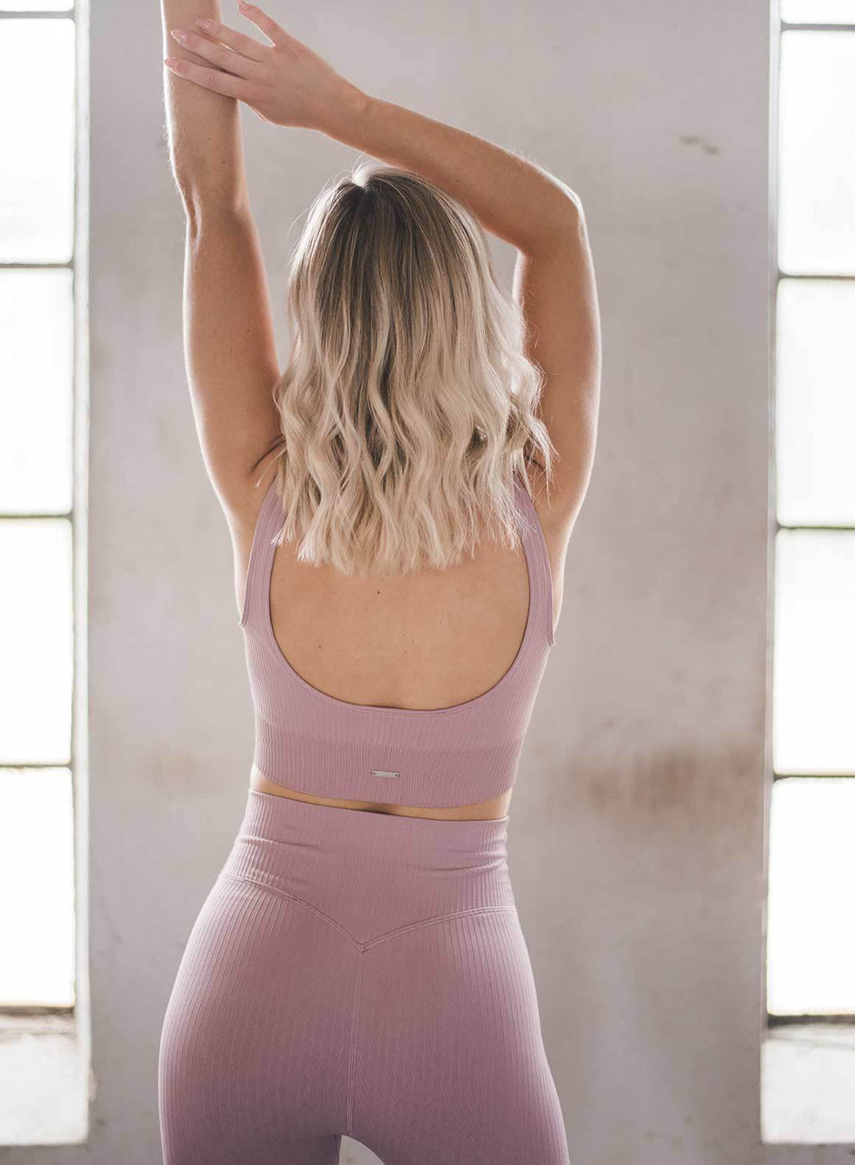SUNSET HAZE RIBBED SEAMLESS BRA