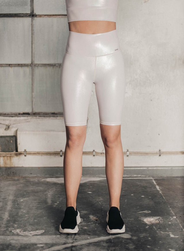 CREAM SHINE ON BIKER SHORTS aim'n sportswear