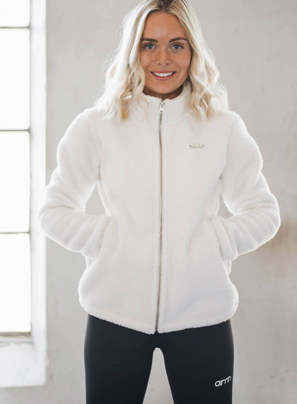 WHITE OH SO FLUFFY JACKET aim'n sportswear