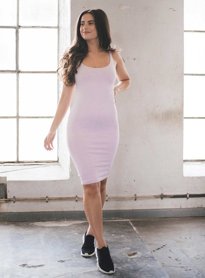 Purple Ribbed Seamless Dress aim'n sportswear