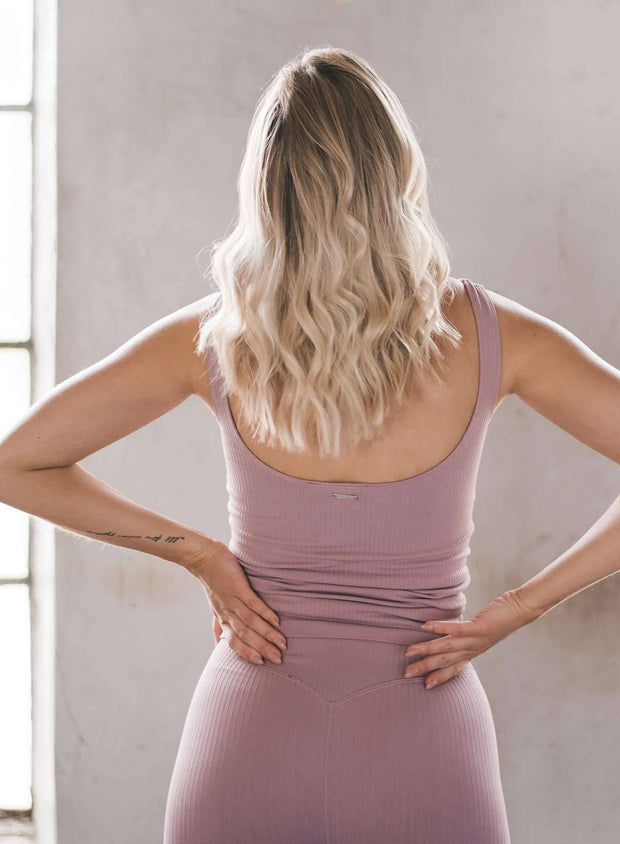 SUNSET HAZE RIBBED SEAMLESS SINGLET