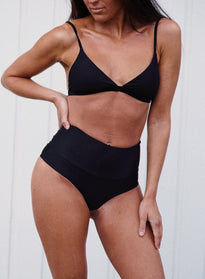 Black Statement Bikini Bra