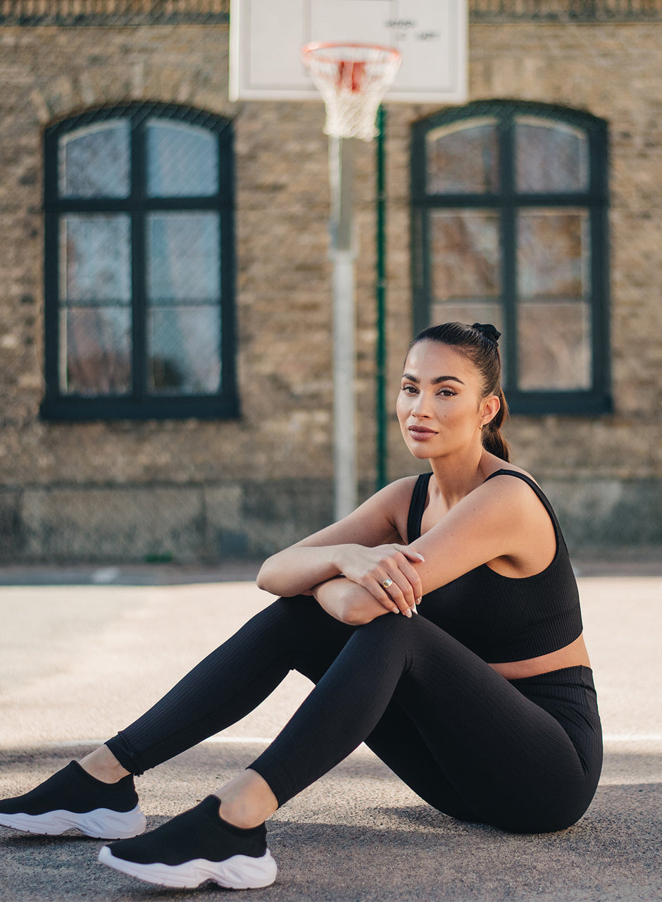 All Black Crop Top